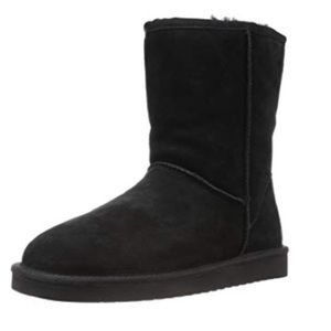 NWOT DAWGS Boho Black Suede Leather Fur Lined Boot
